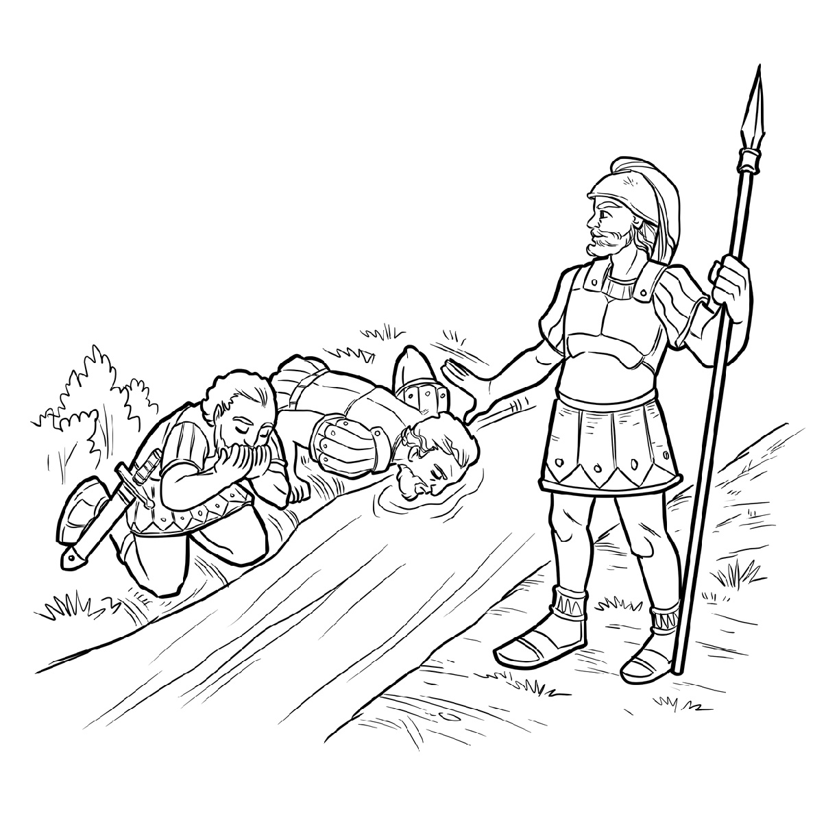 Gideon Coloring Pages Bible Story