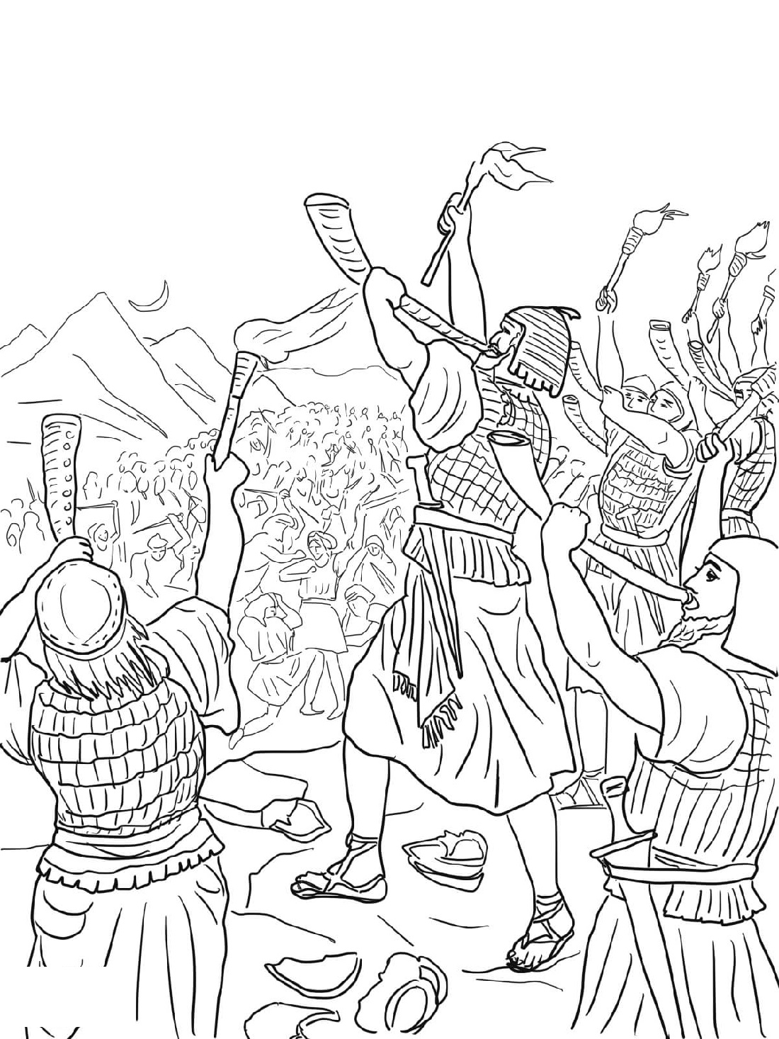 Gideon Coloring Pages Free