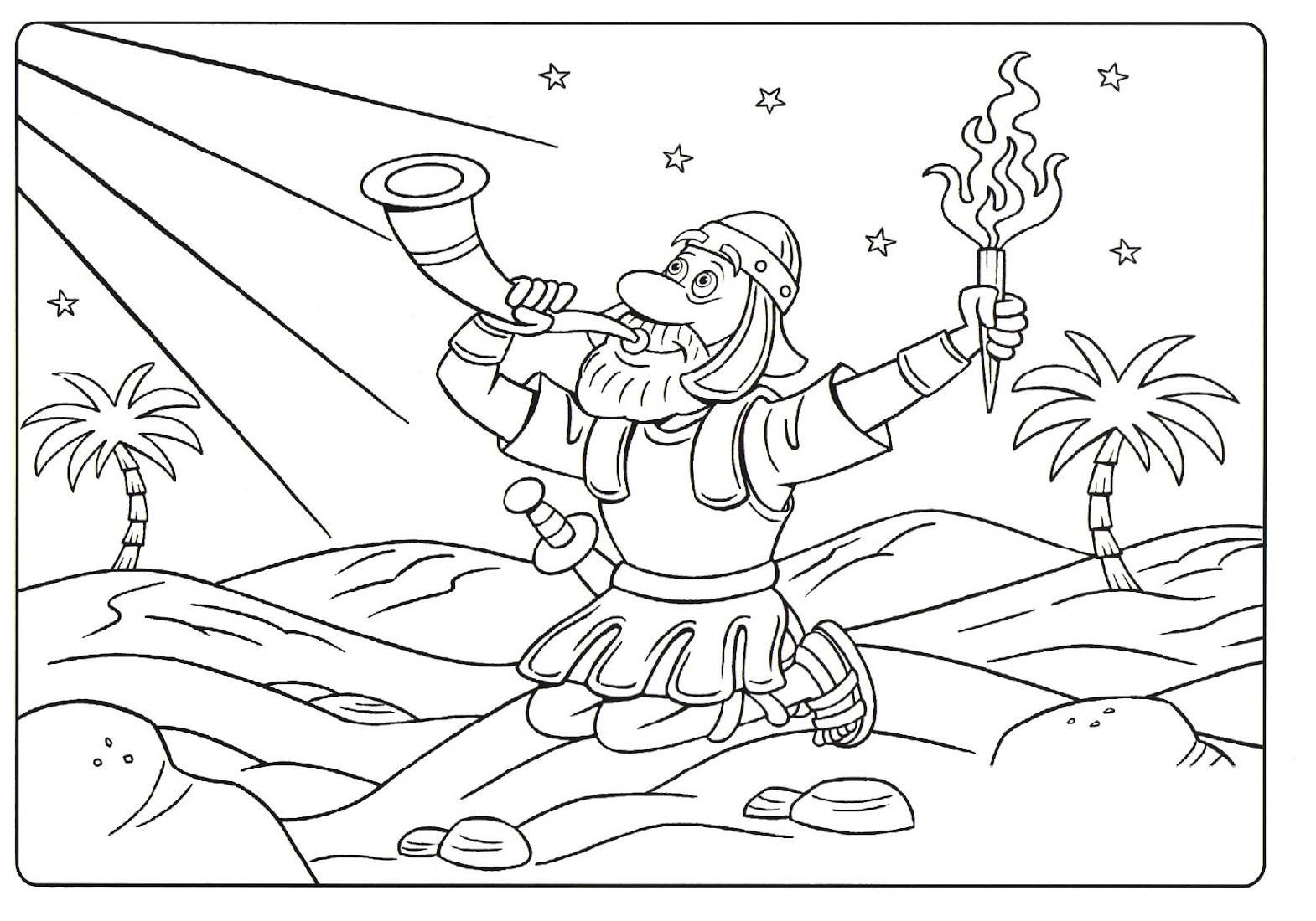 Gideon Coloring Pages Printable