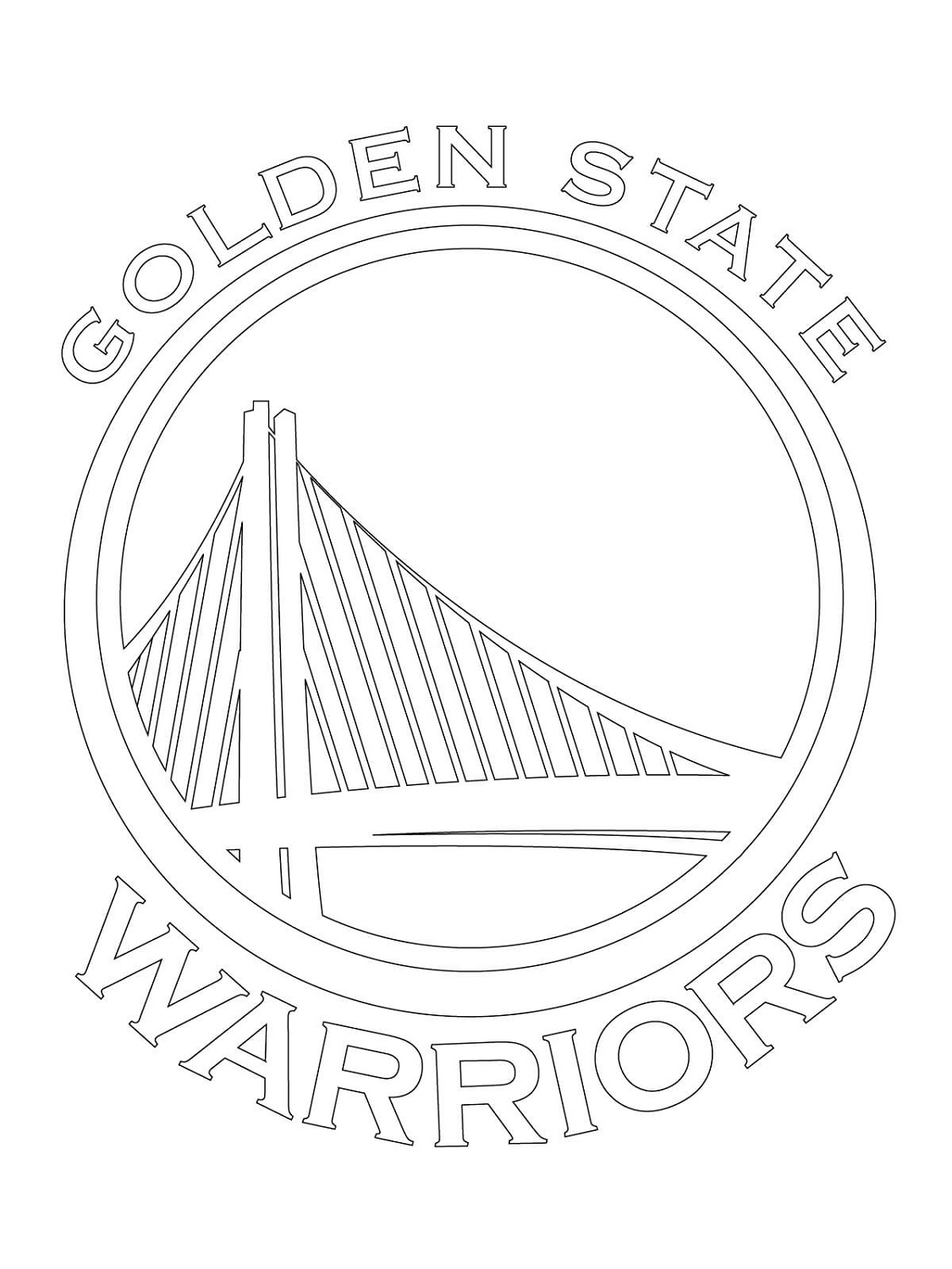 Golden State Warriors Coloring Pages Logo