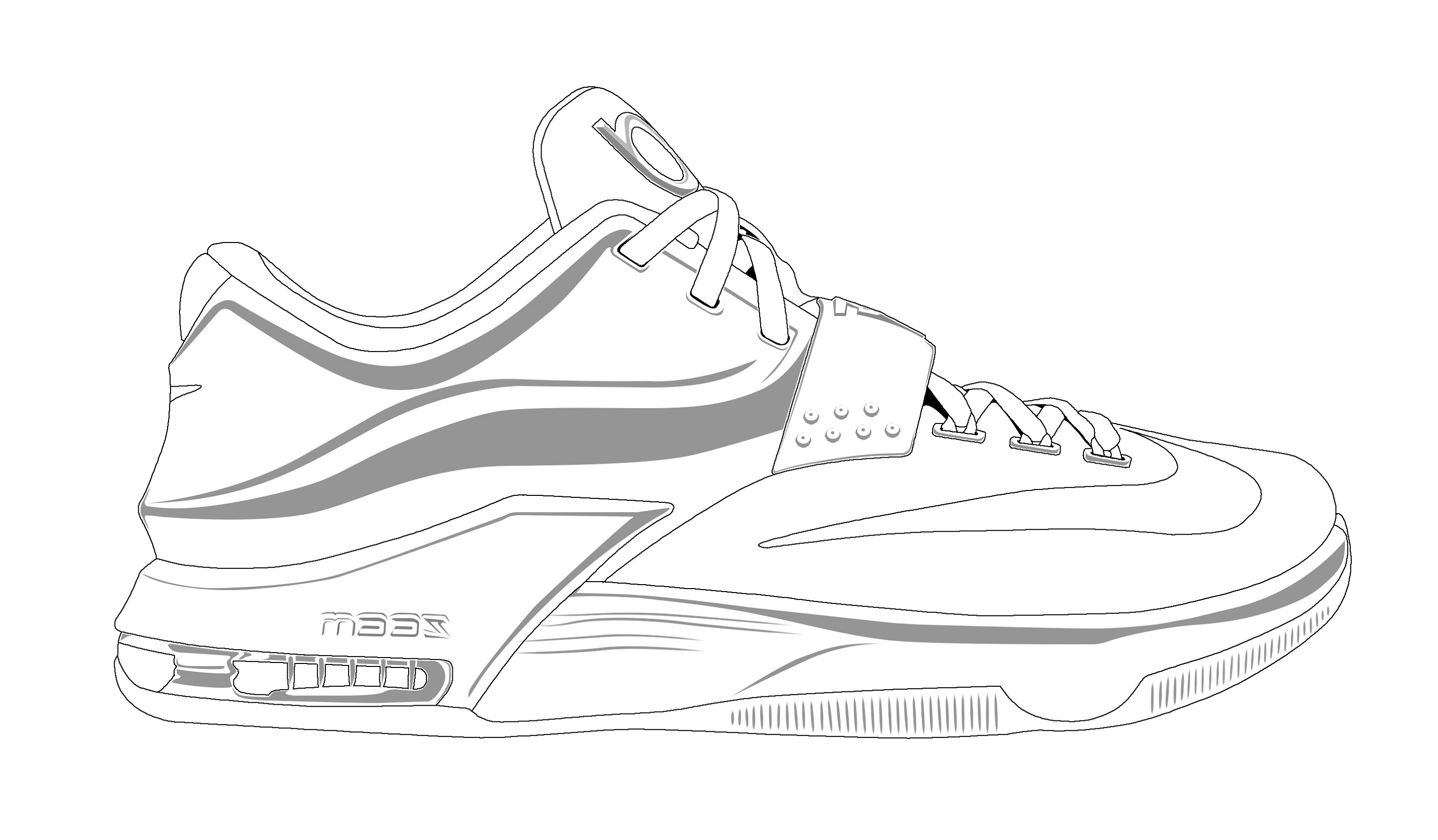 Golden State Warriors Coloring Pages Shoes