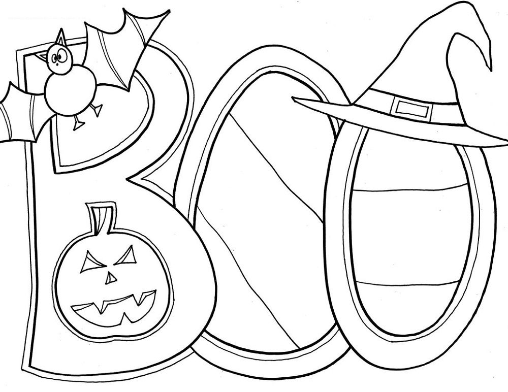Halloween Coloring Sheets Boo