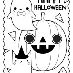 Halloween Coloring Sheets Cute