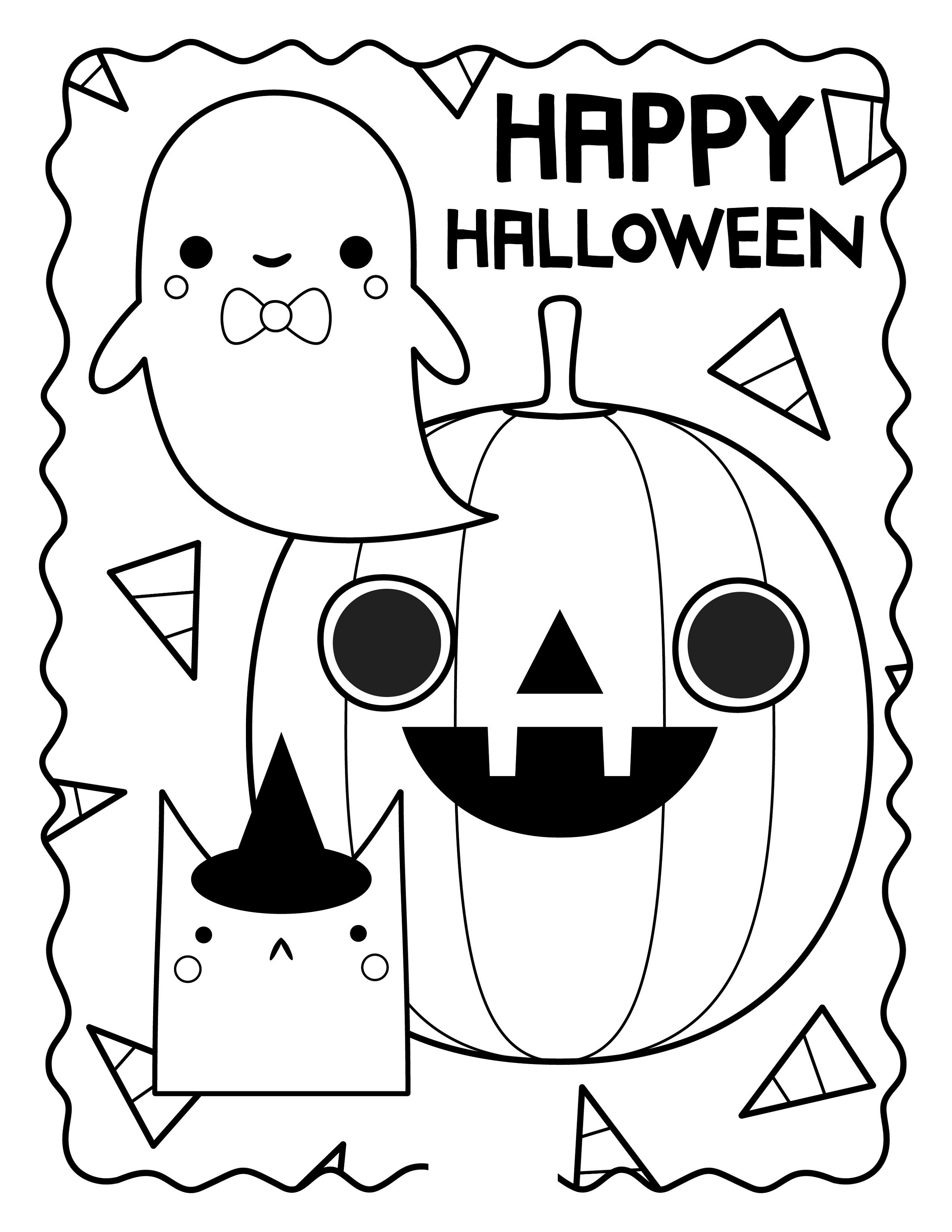 Halloween Coloring Sheets for Celebrating Halloween | K5 ...