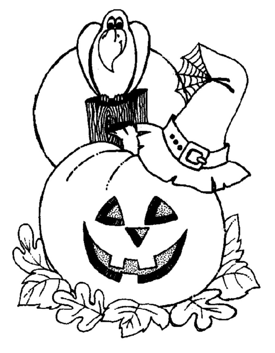 Halloween Coloring Sheets Pumpkin