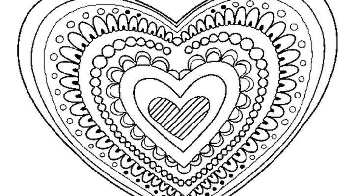 Heart Coloring Mandala