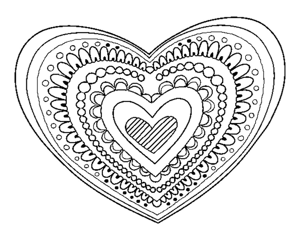 Heart Coloring Mandala