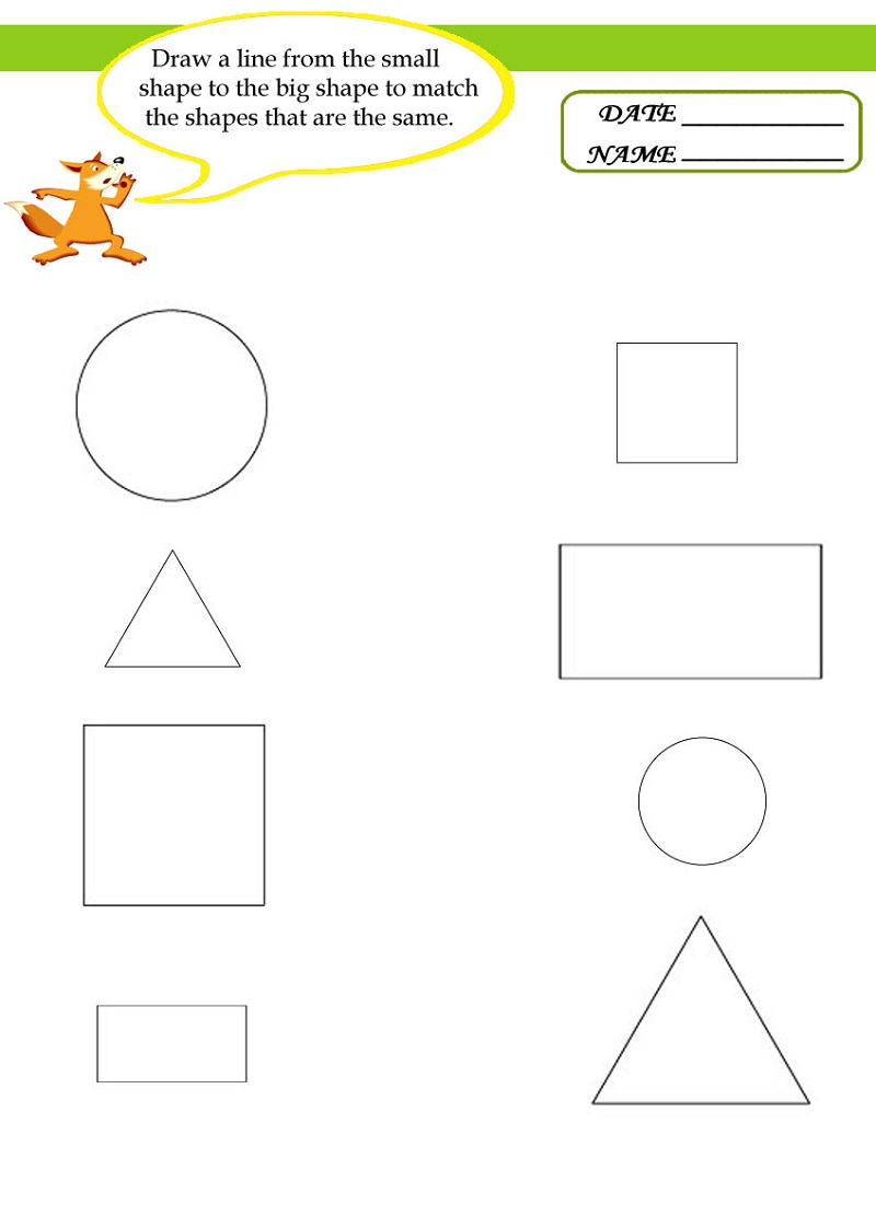 Homework For Toddlers Printables Shapes