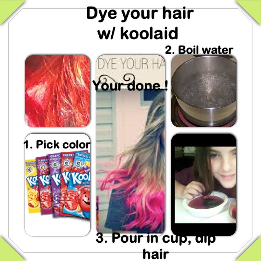How To Coloring Hair With Kool Aid