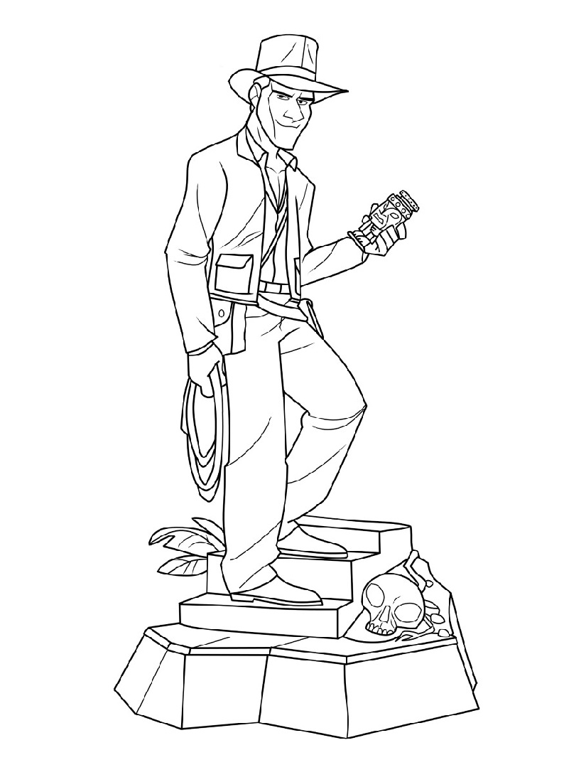 Indiana Jones Coloring Pages For Children