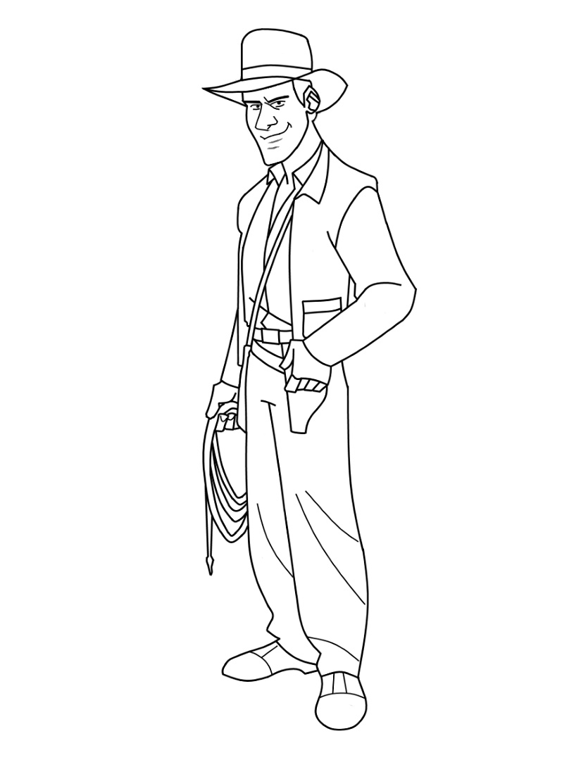 Indiana Jones Coloring Pages Free