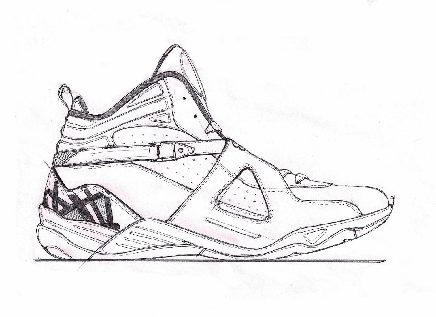 Jordan 11 Coloring Page Sketch