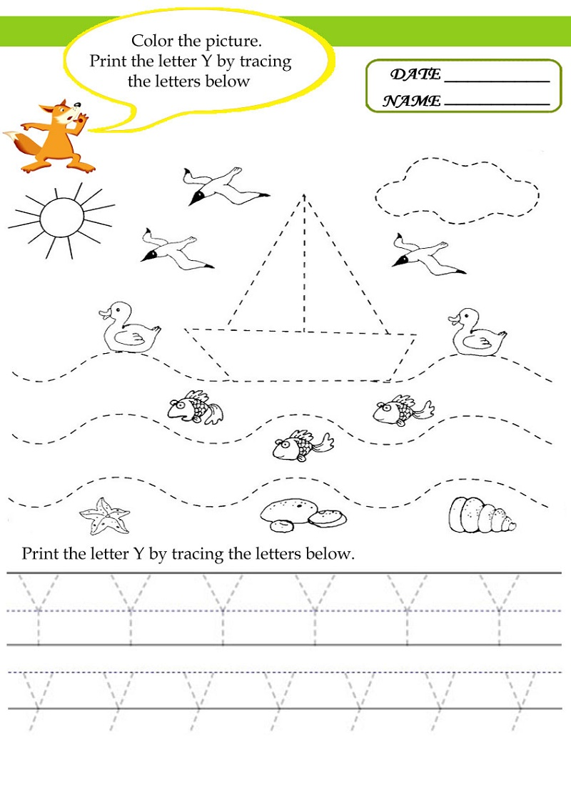 Kindergarten Activities Worksheets Alphabet