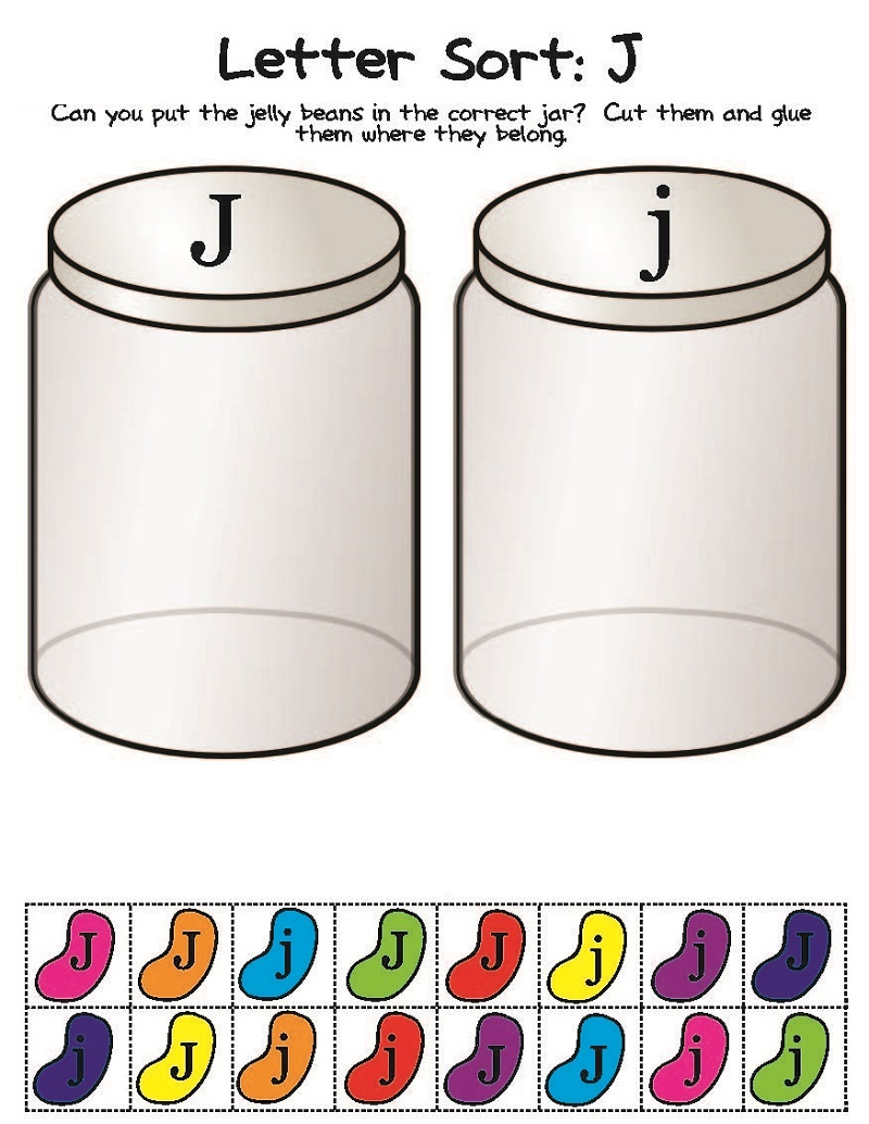 Kindergarten Activities Worksheets Letter Sort