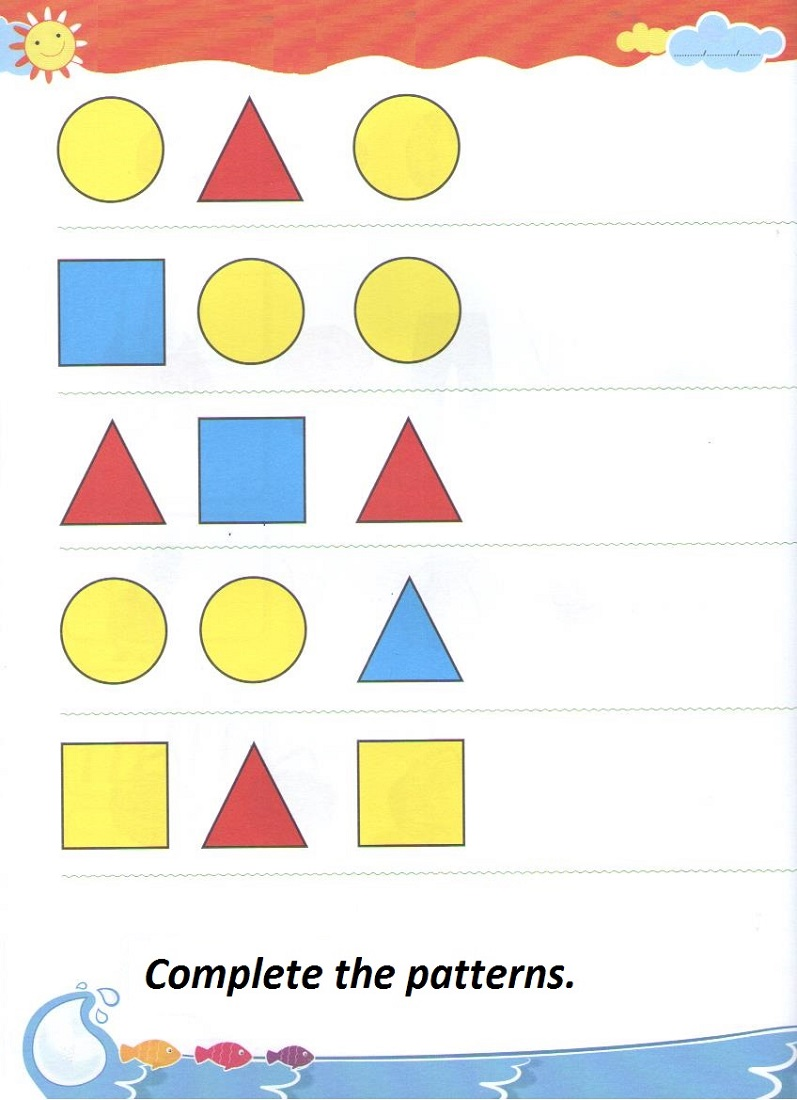 Kindergarten Activity Sheets Pattern