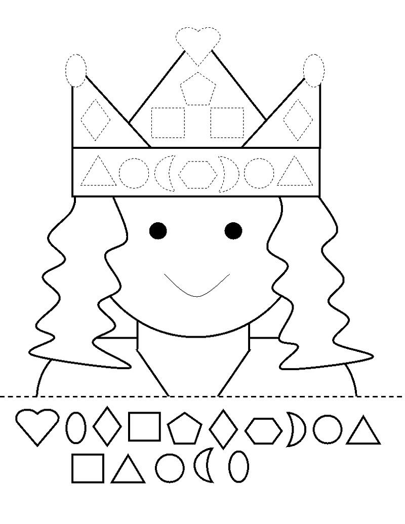 Kindergarten Activity Sheets Shape Cut And Paste