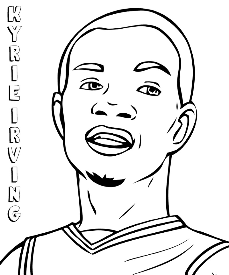 Kyrie Irving Coloring Pages Printable