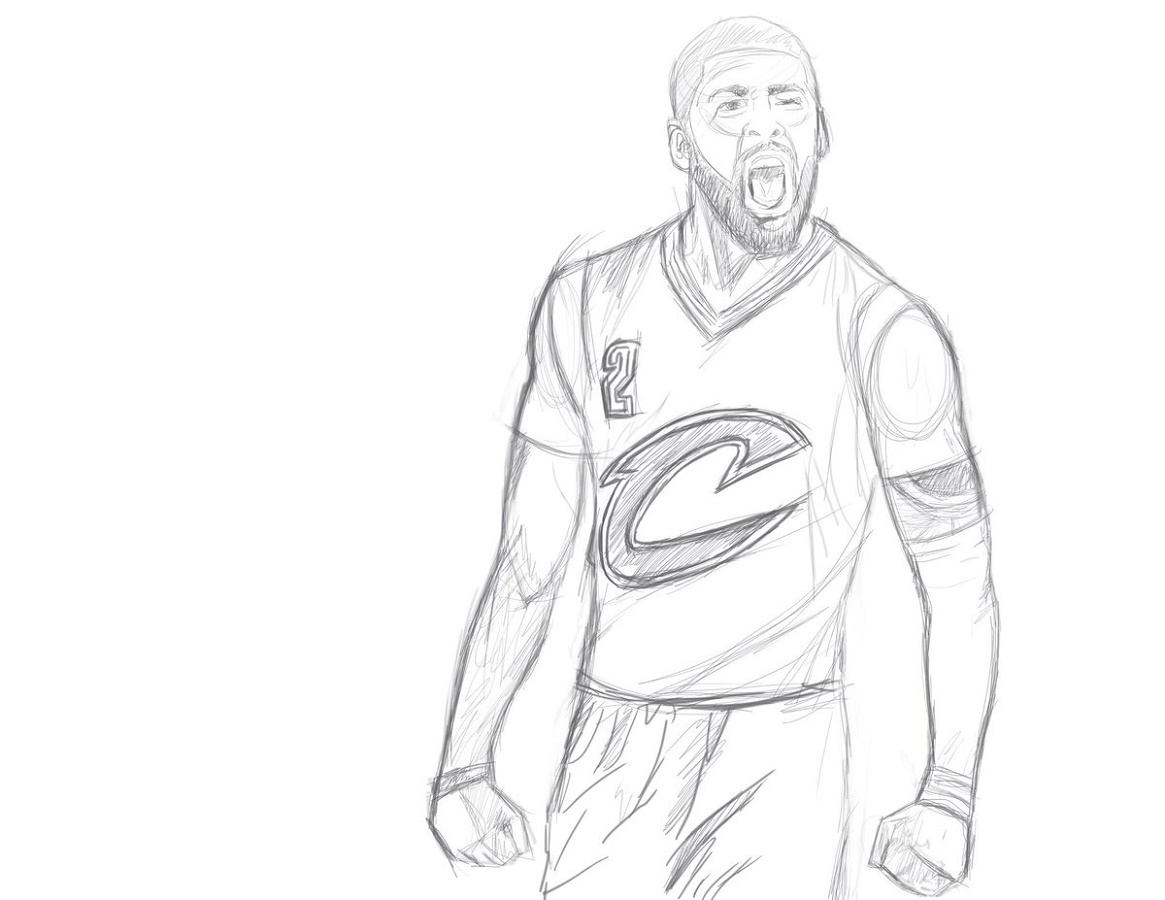 Kyrie Irving Coloring Pages Sketch