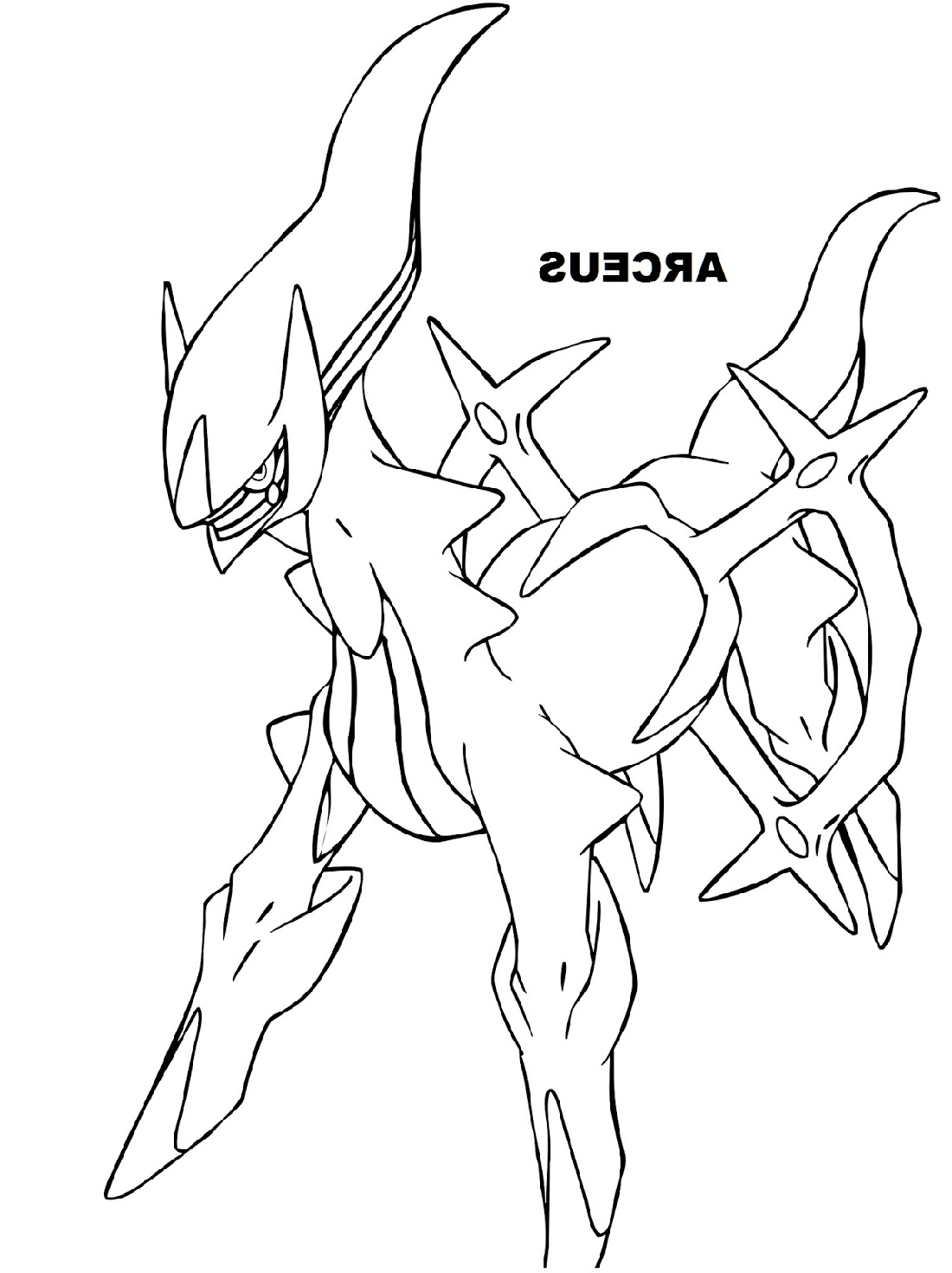 Legendary Pokemon Coloring Pages Archeus