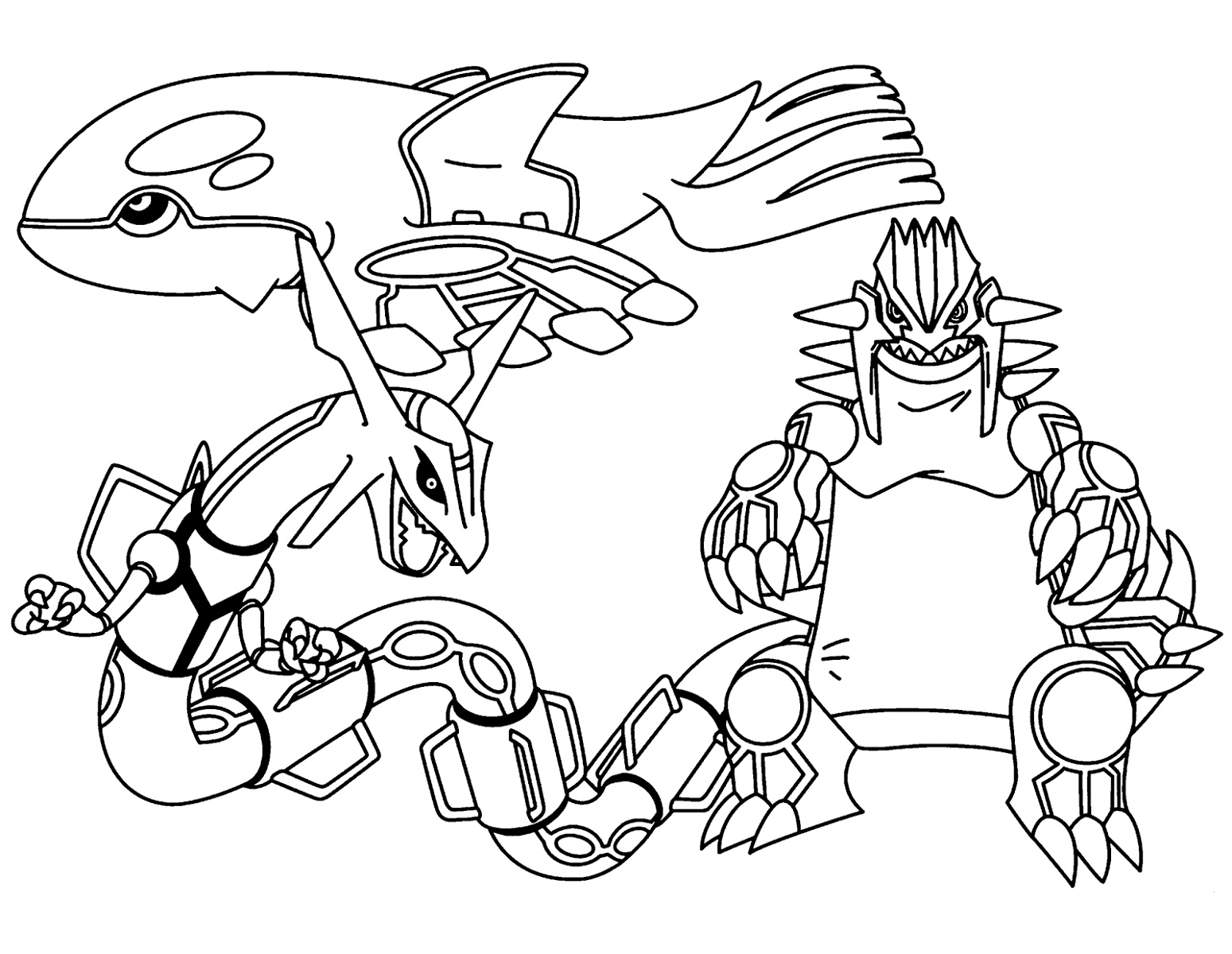 Legendary Pokemon Coloring Pages Free
