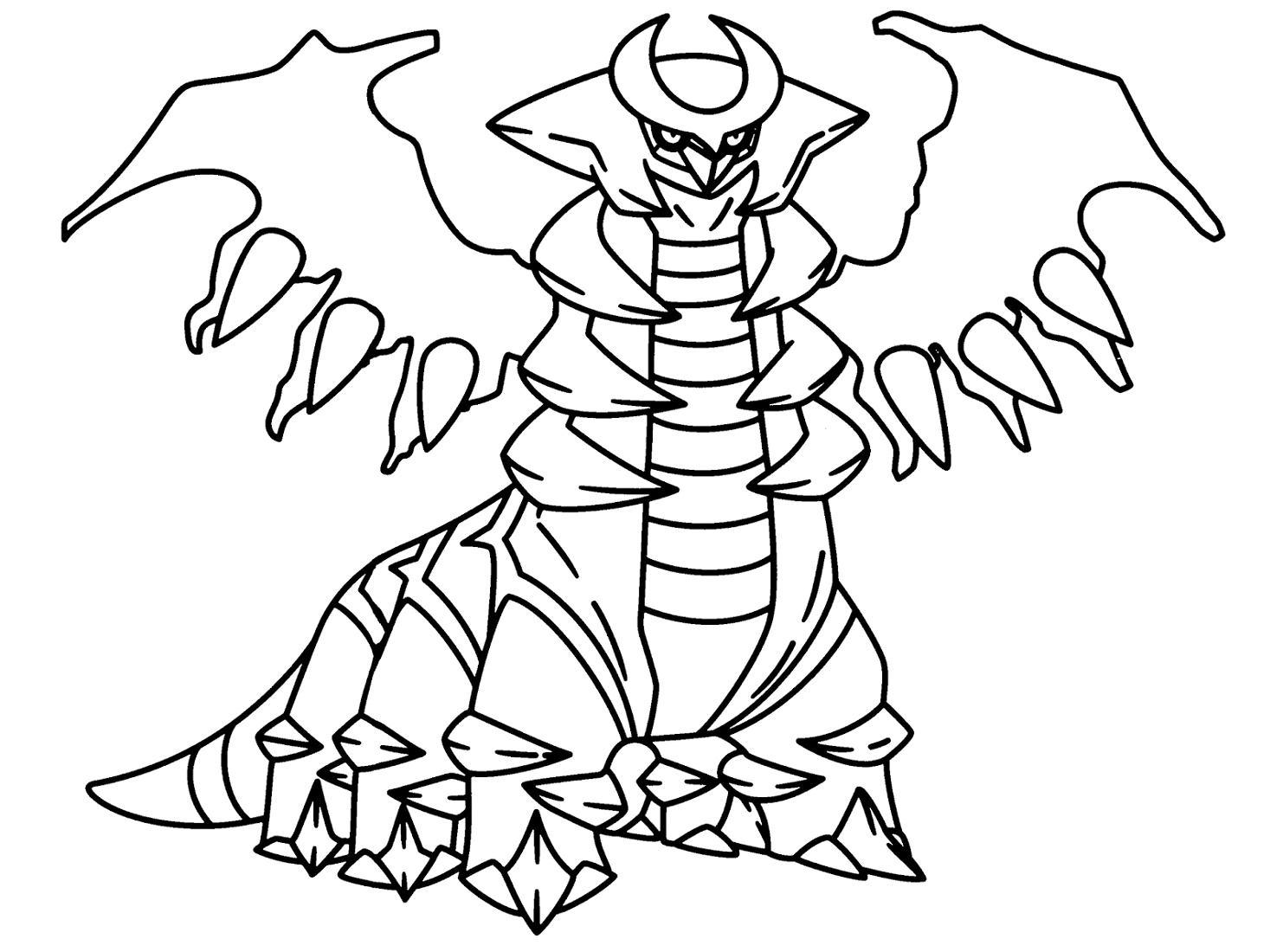 Legendary Pokemon Coloring Pages Gratina