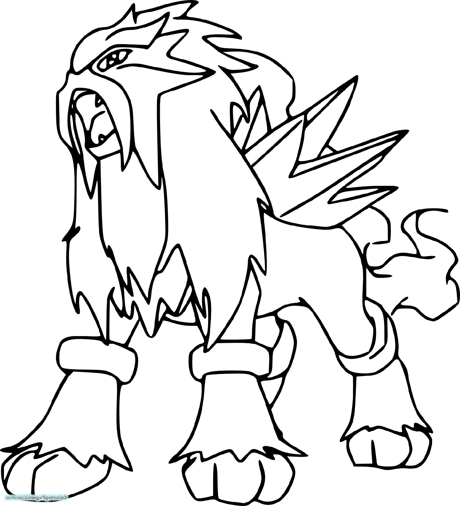 Legendary Pokemon Coloring Pages To Print
