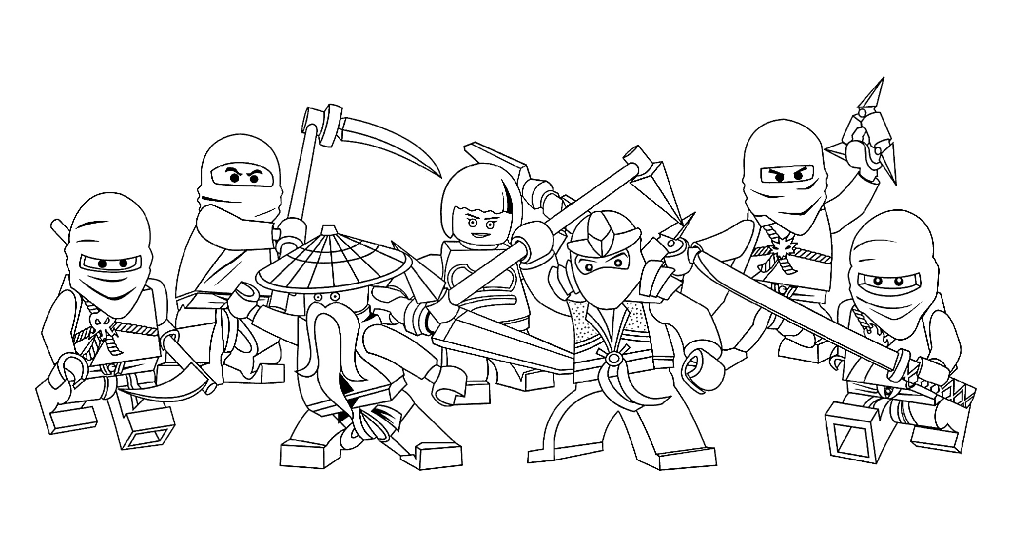 Lego Ninjago Coloring Pages Characters