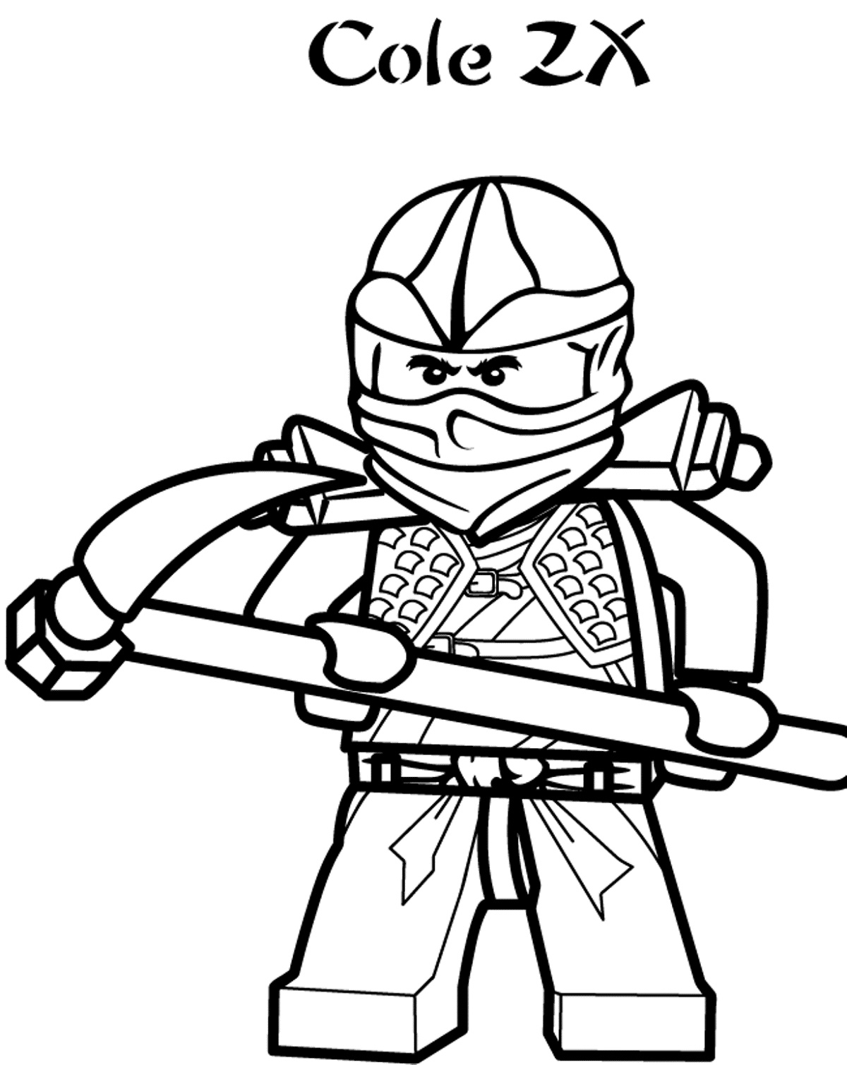 Lego Ninjago Coloring Pages Cole