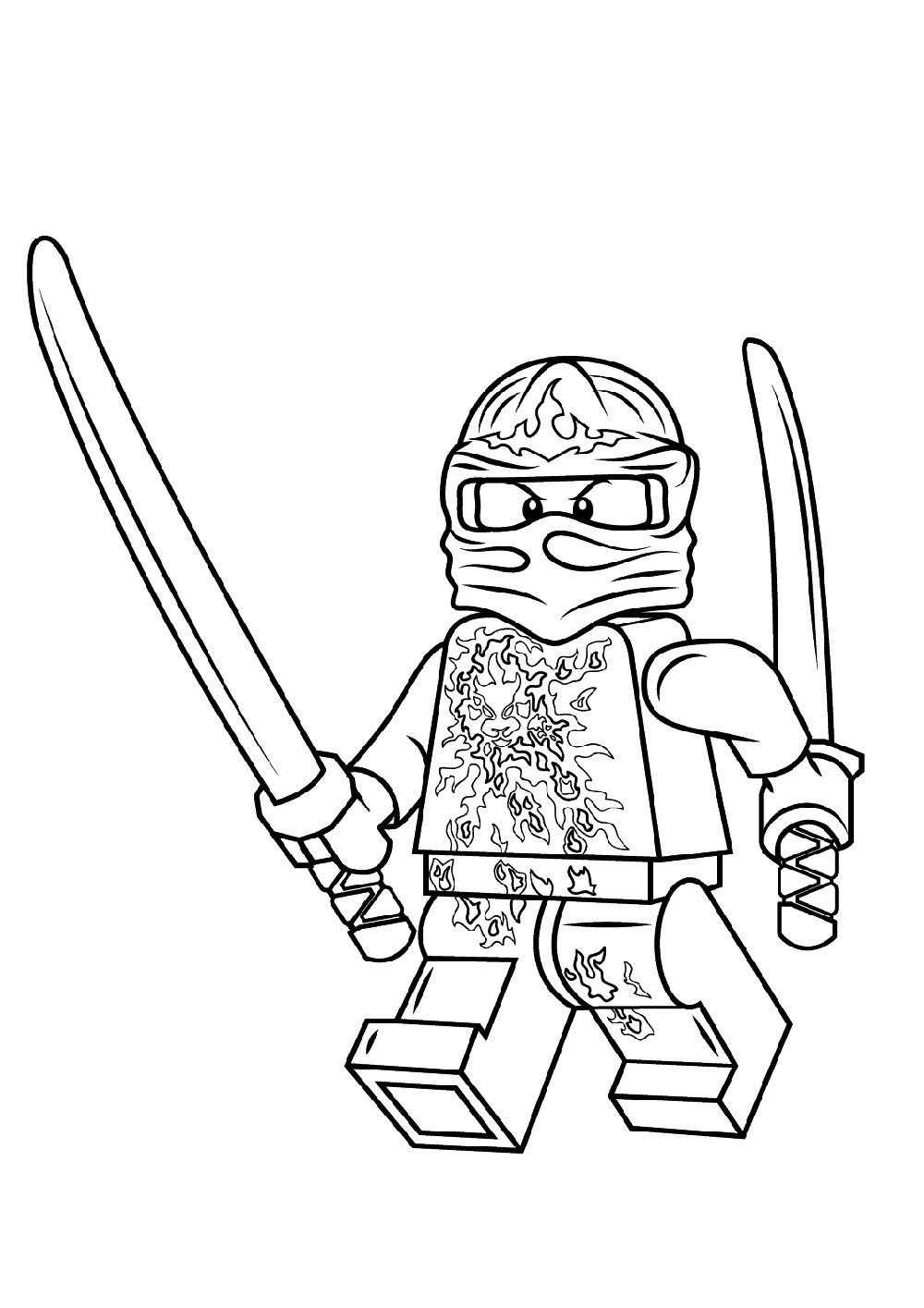 Lego Ninjago Coloring Pages Kai K5 Worksheets