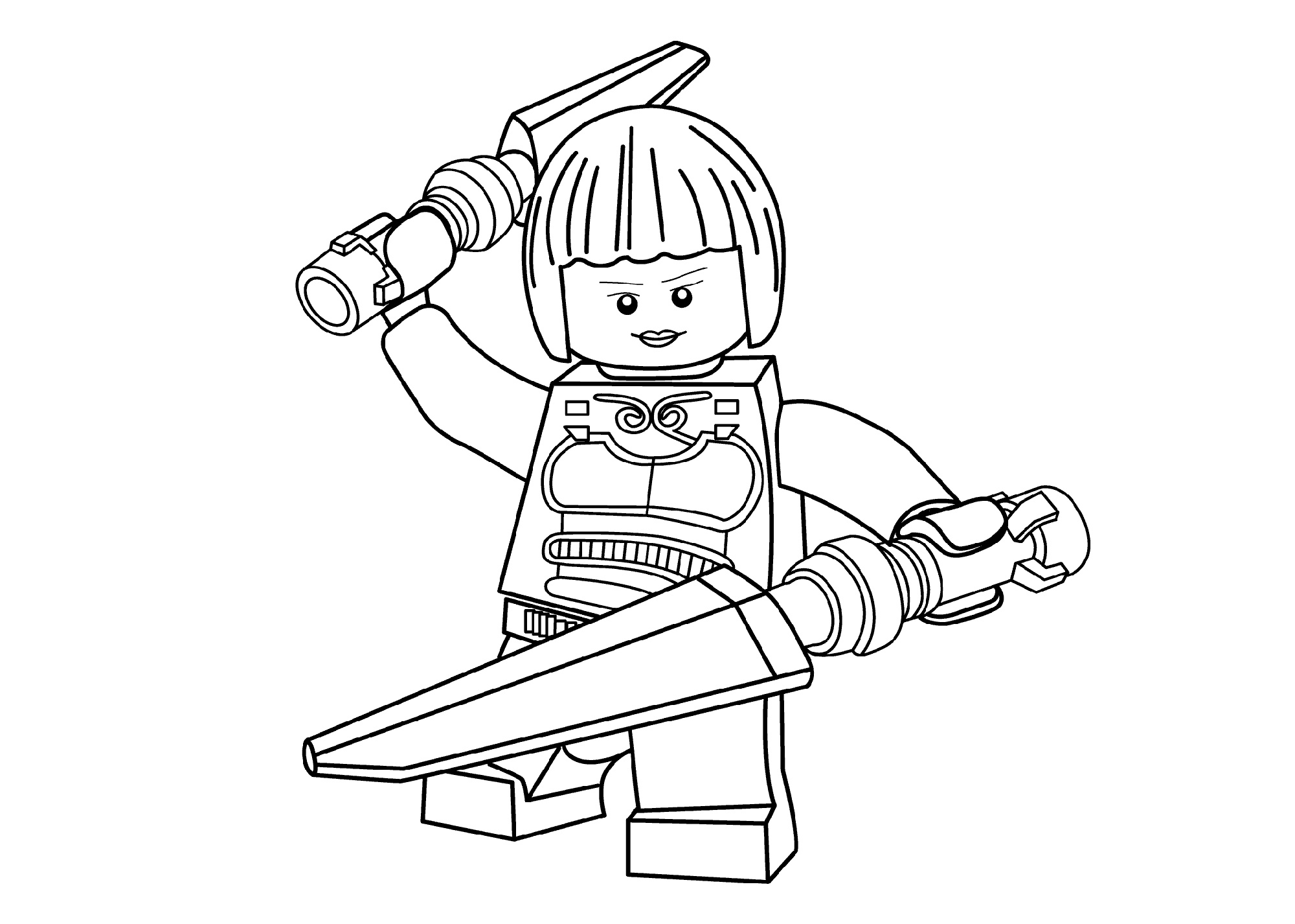 Lego Ninjago Coloring Pages Nya