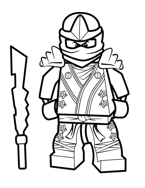 Lego Ninjago Coloring Pages Red