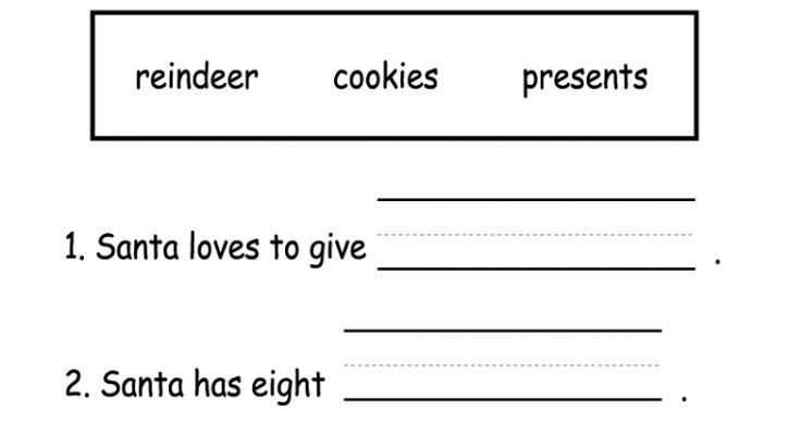 Literacy Worksheets Christmas