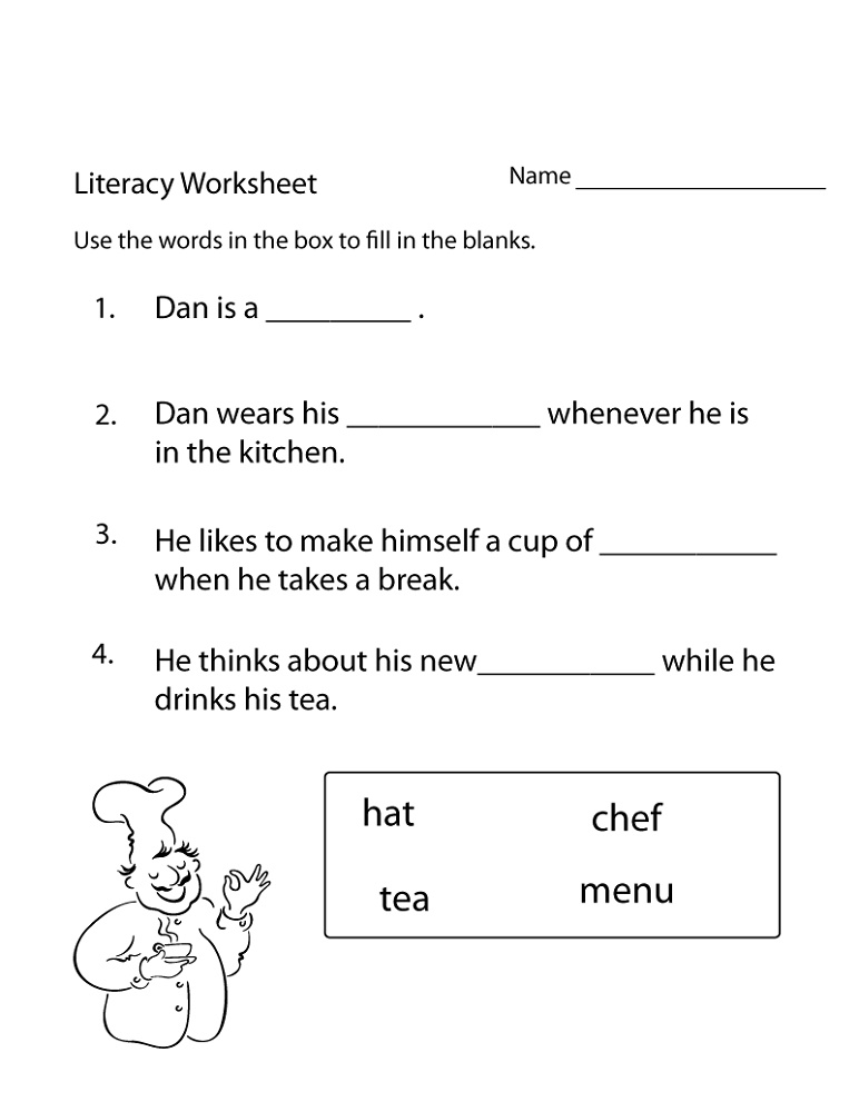 Literacy Worksheets Fun
