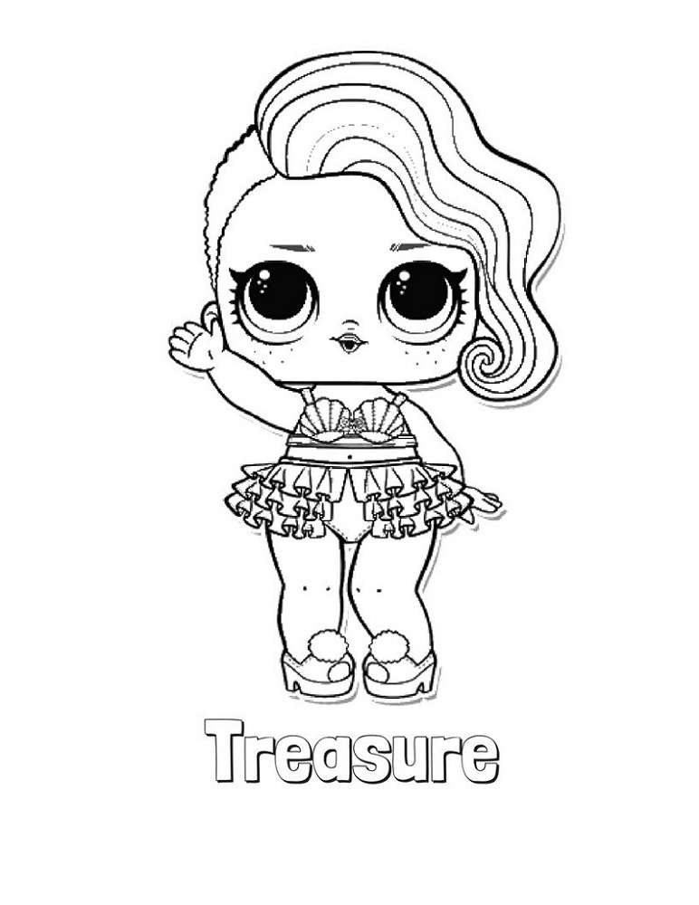 Lol Surprise Coloring Pages Treasure