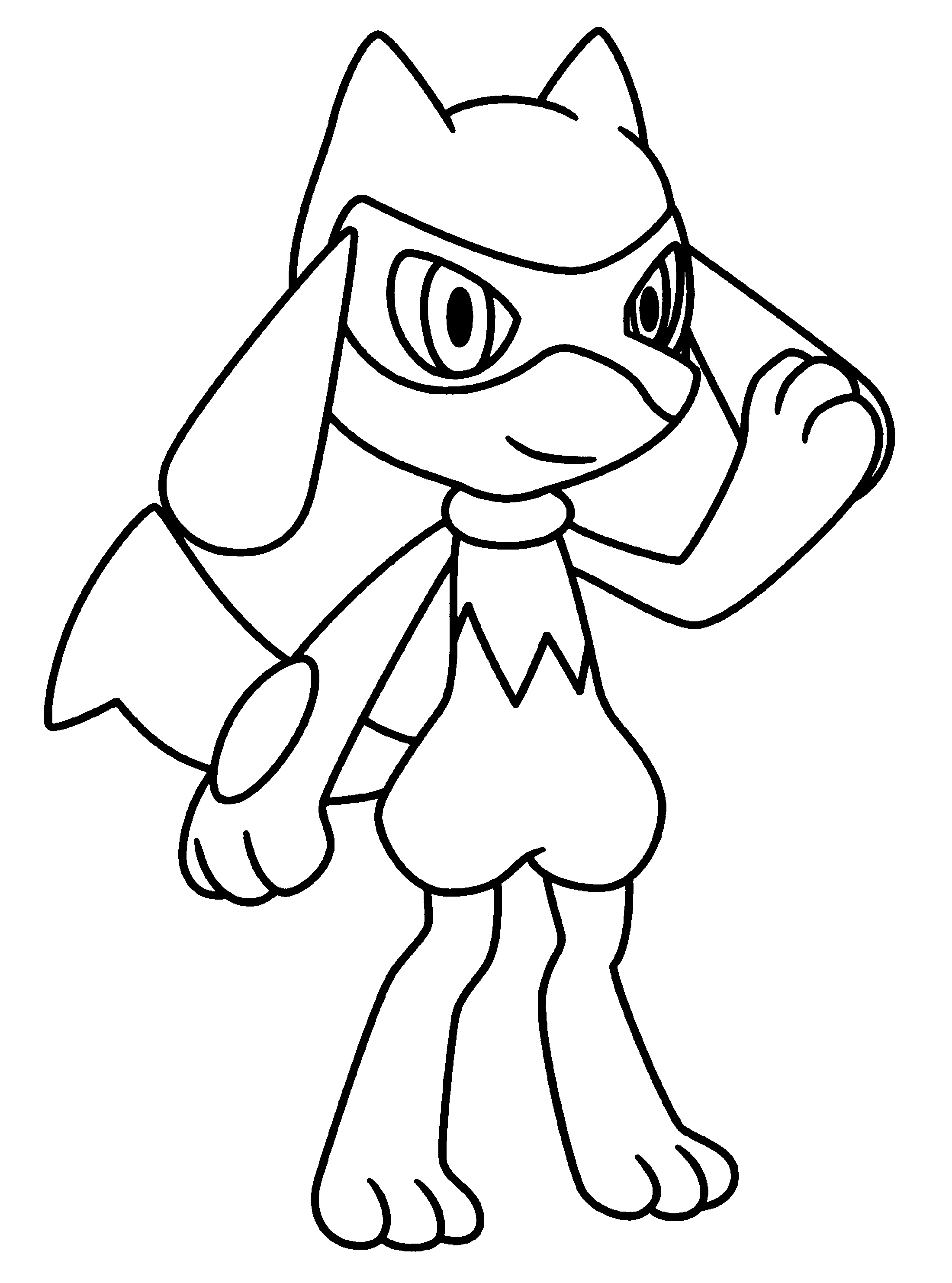 Lucario Coloring Page For Kids