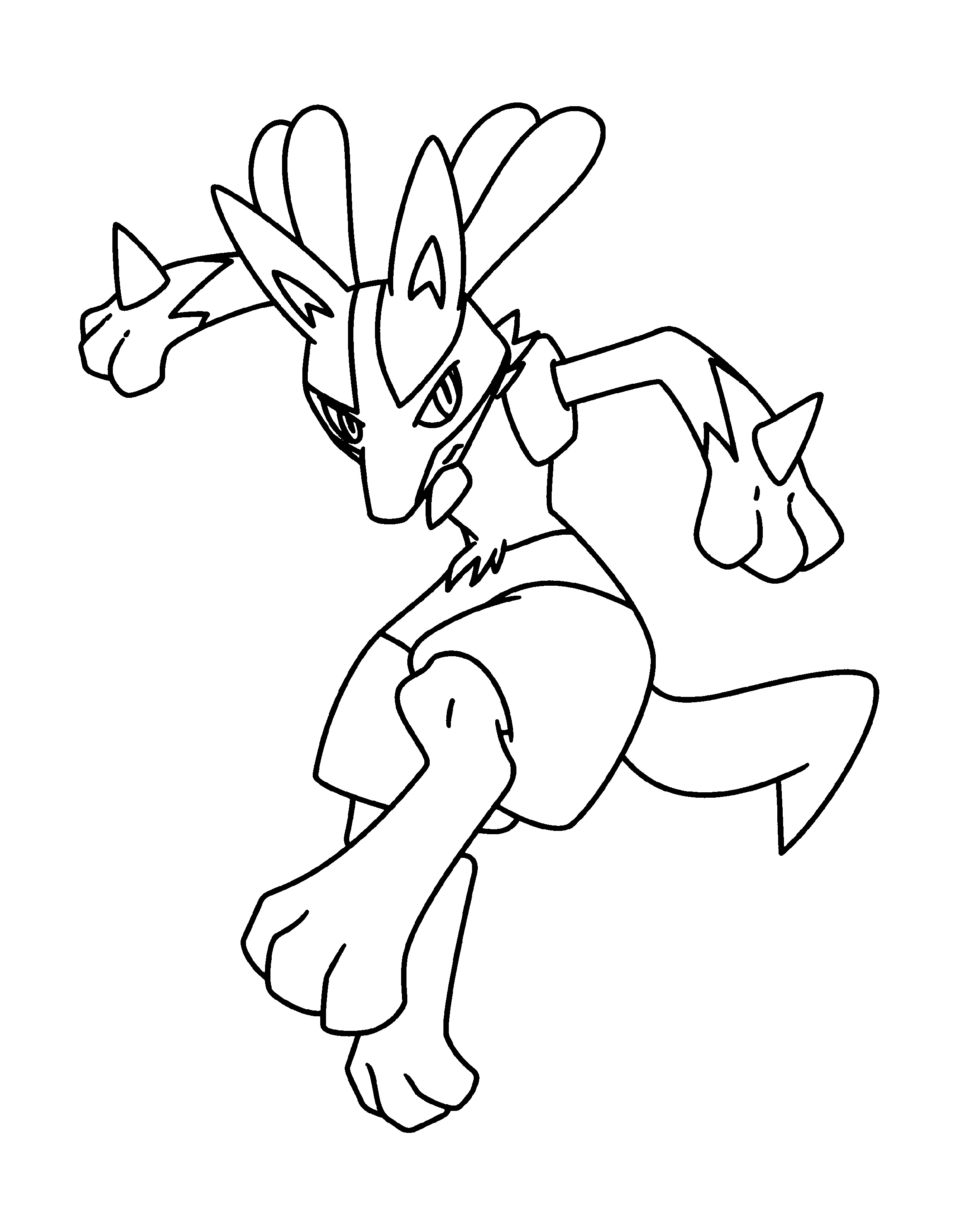 Lucario Coloring Page Free