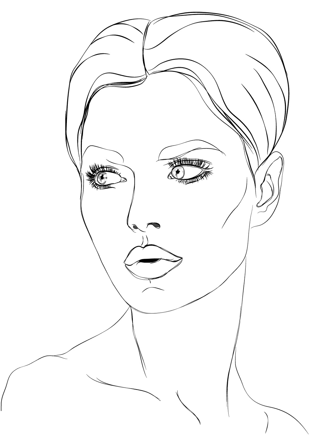 Makeup Coloring Pages Face