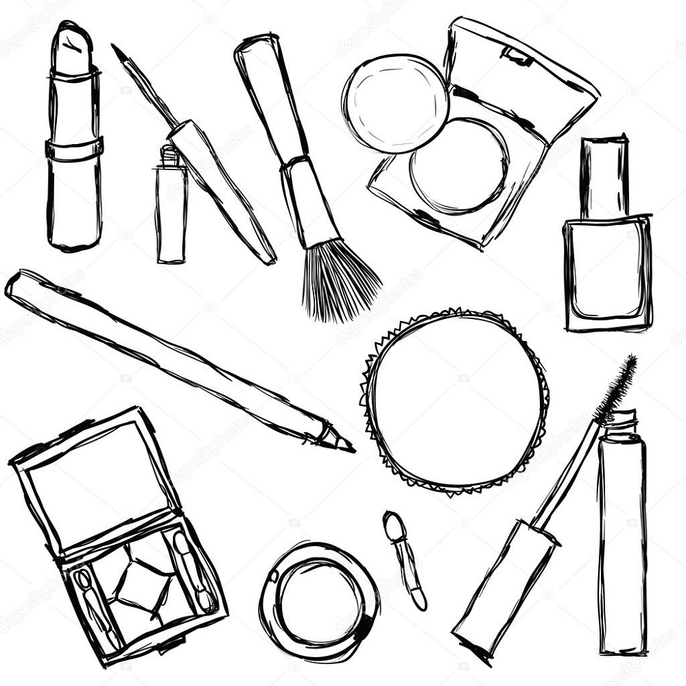 Makeup Coloring Pages Printable