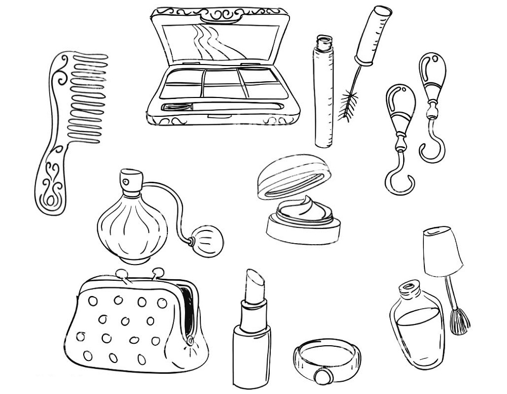 Makeup Coloring Pages Tools