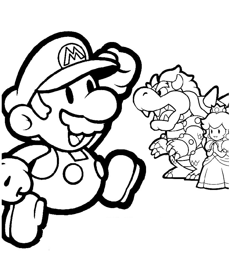 Mario Coloring Pages And Sonic