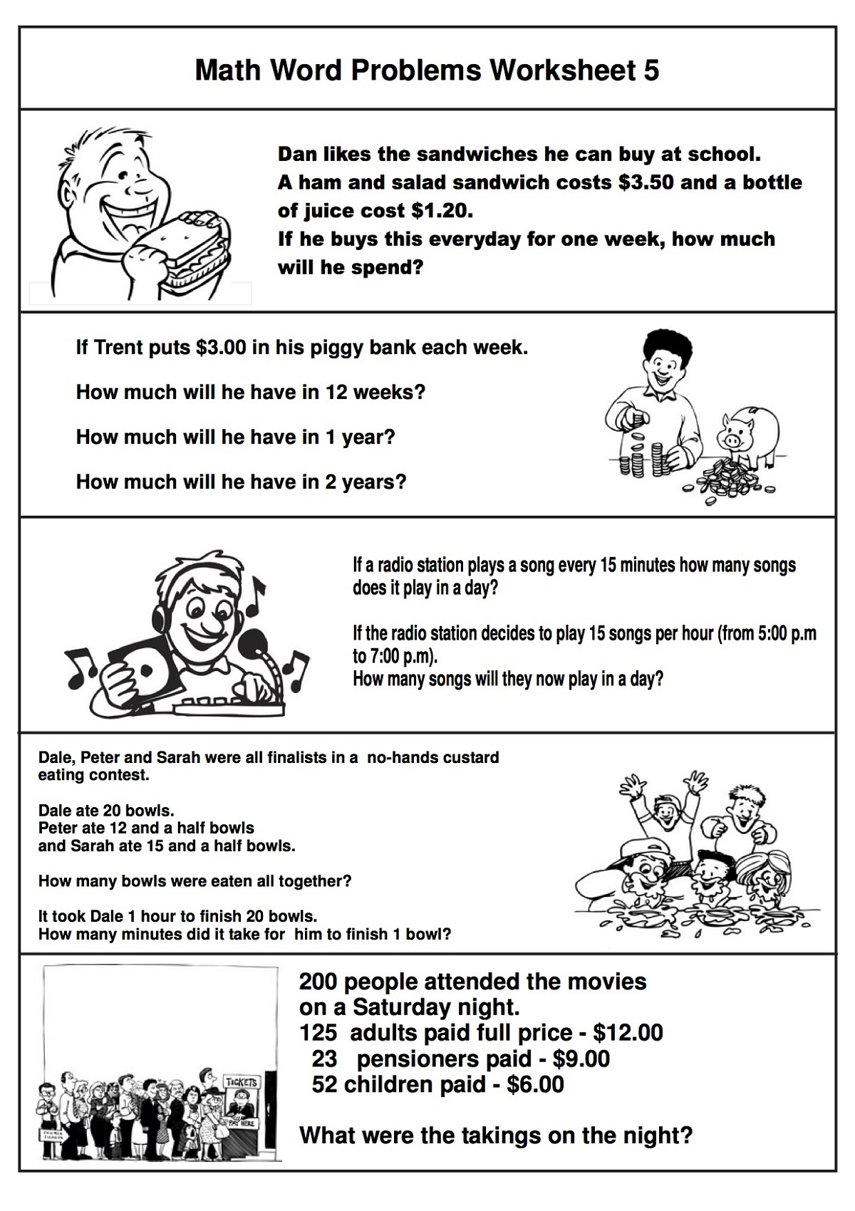 Math Problems Worksheets Free