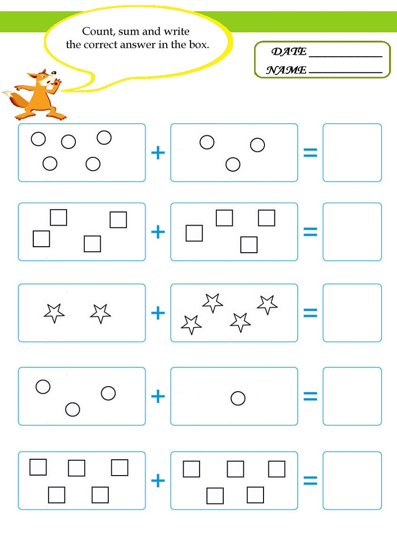 Math Worksheets For Kids Addition
