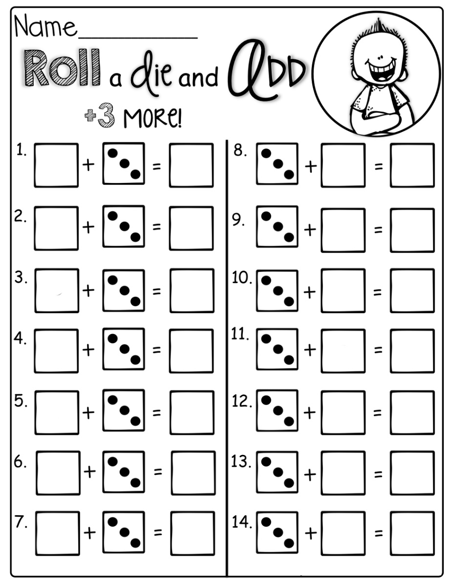 Maths For 6 Year Olds Worksheets Dice