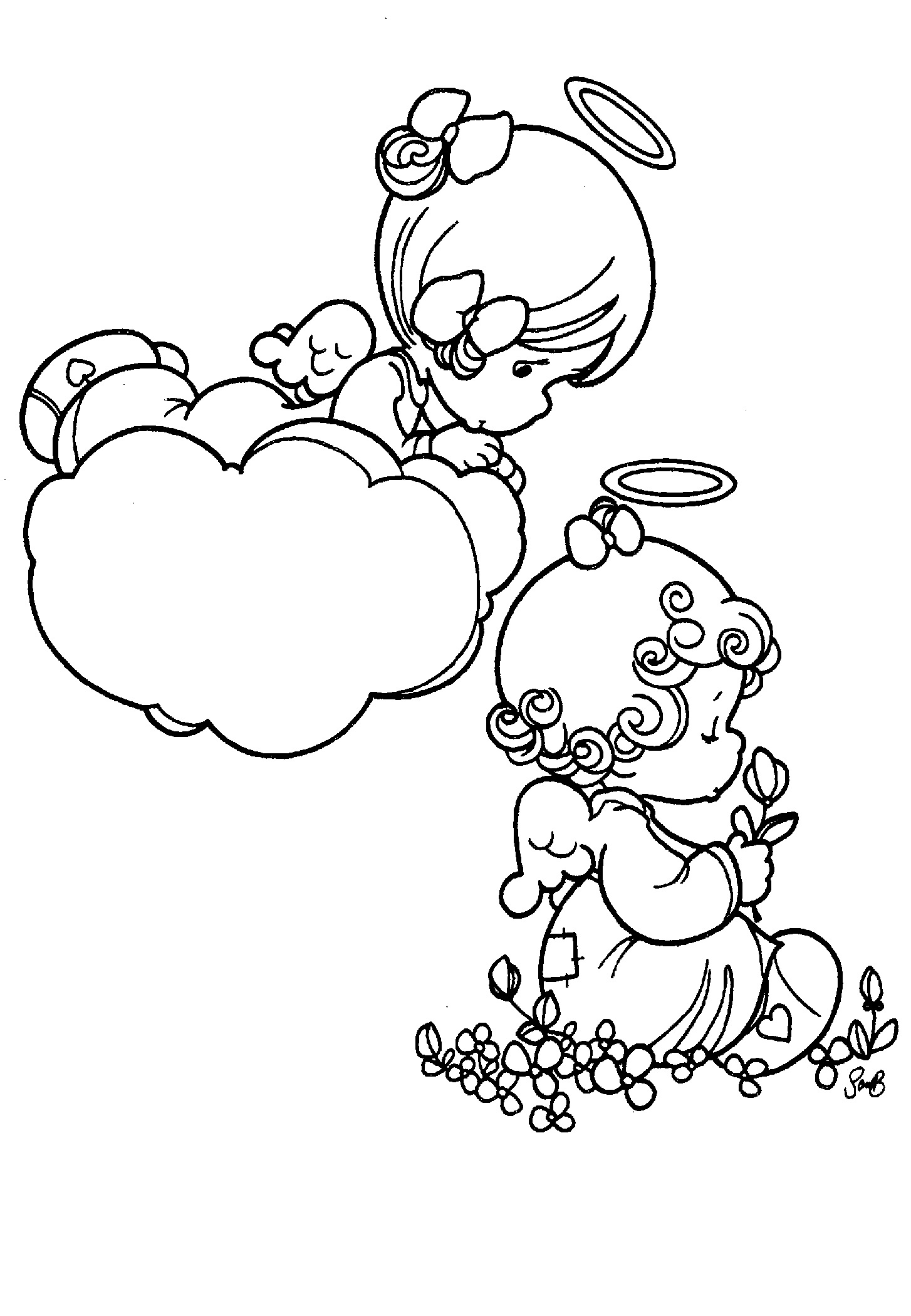 Precious Moments Coloring Pages Angels