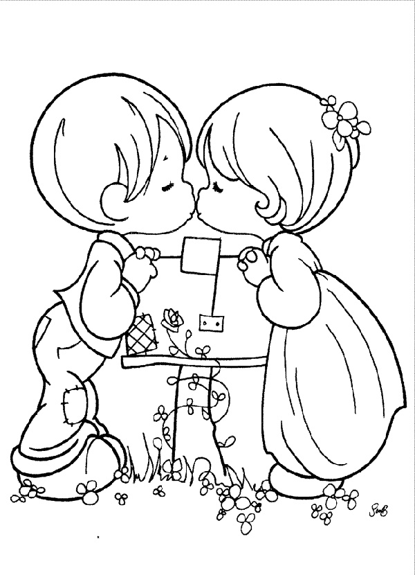 Precious Moments Coloring Pages Free
