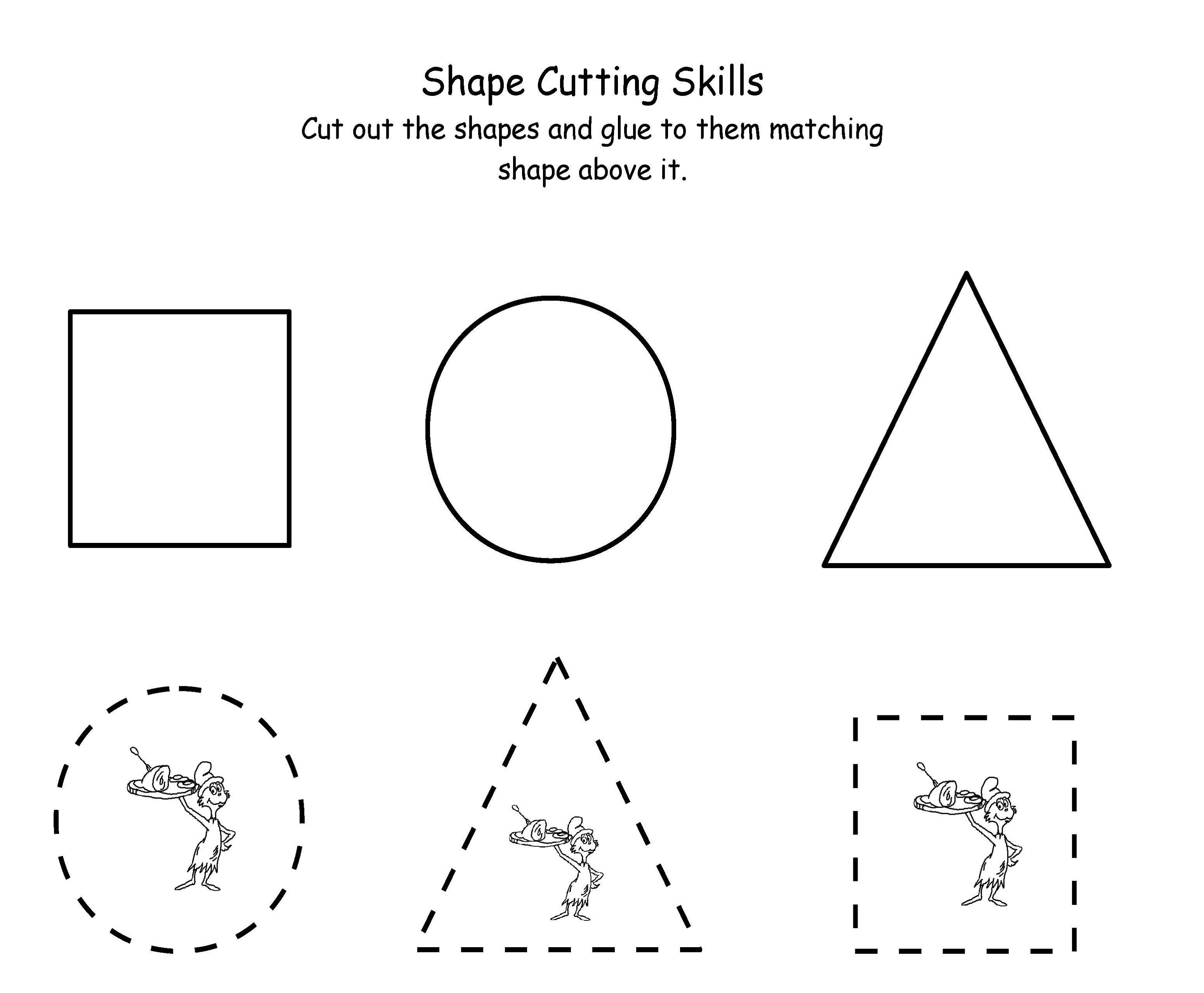 Preschool Printable Activities Cutting