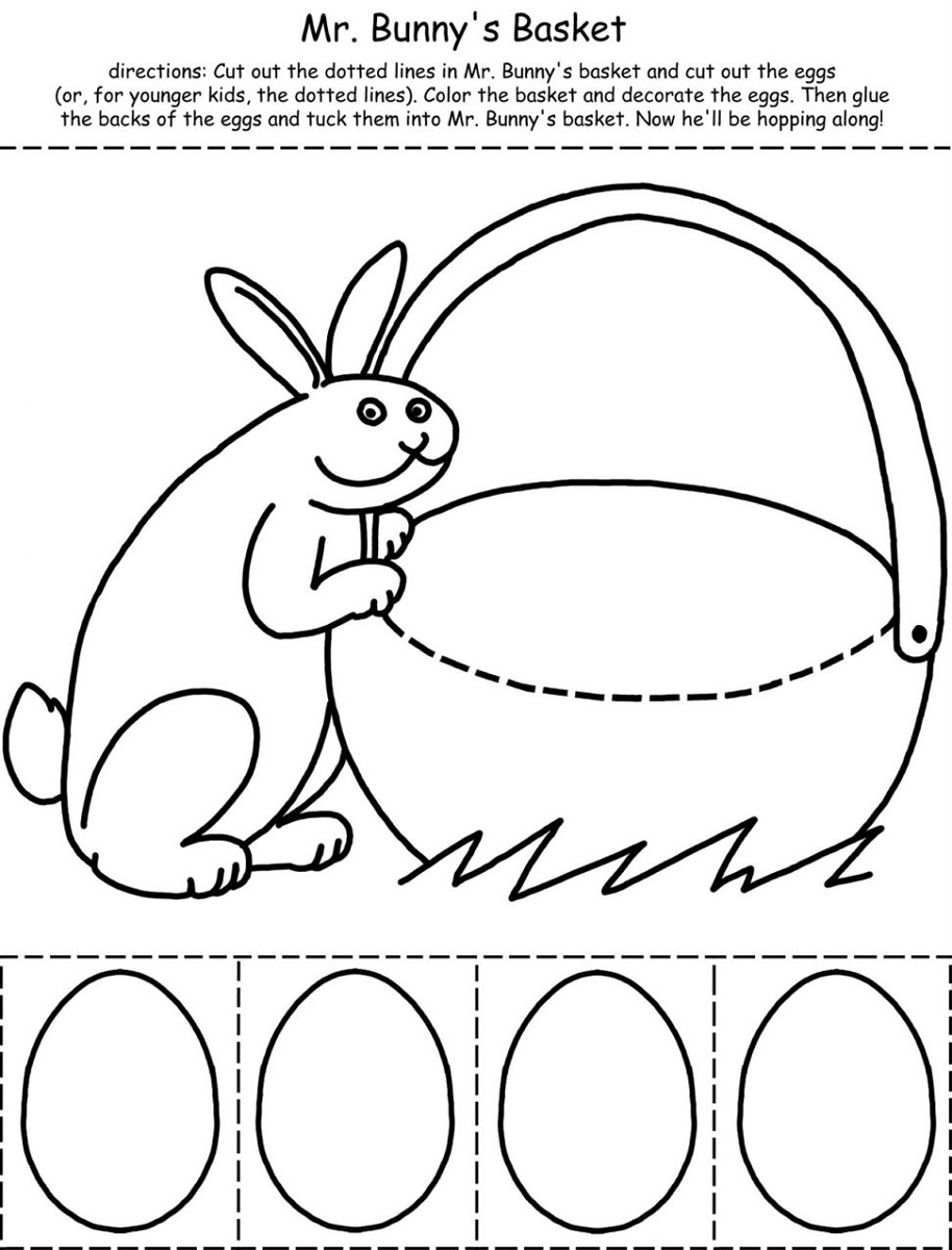 Preschool Printable Activities Mr Bunny Basket