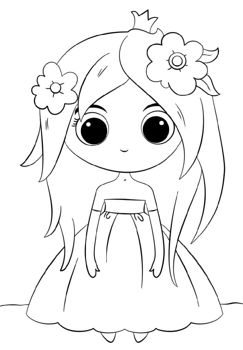 Princess Coloring Cute