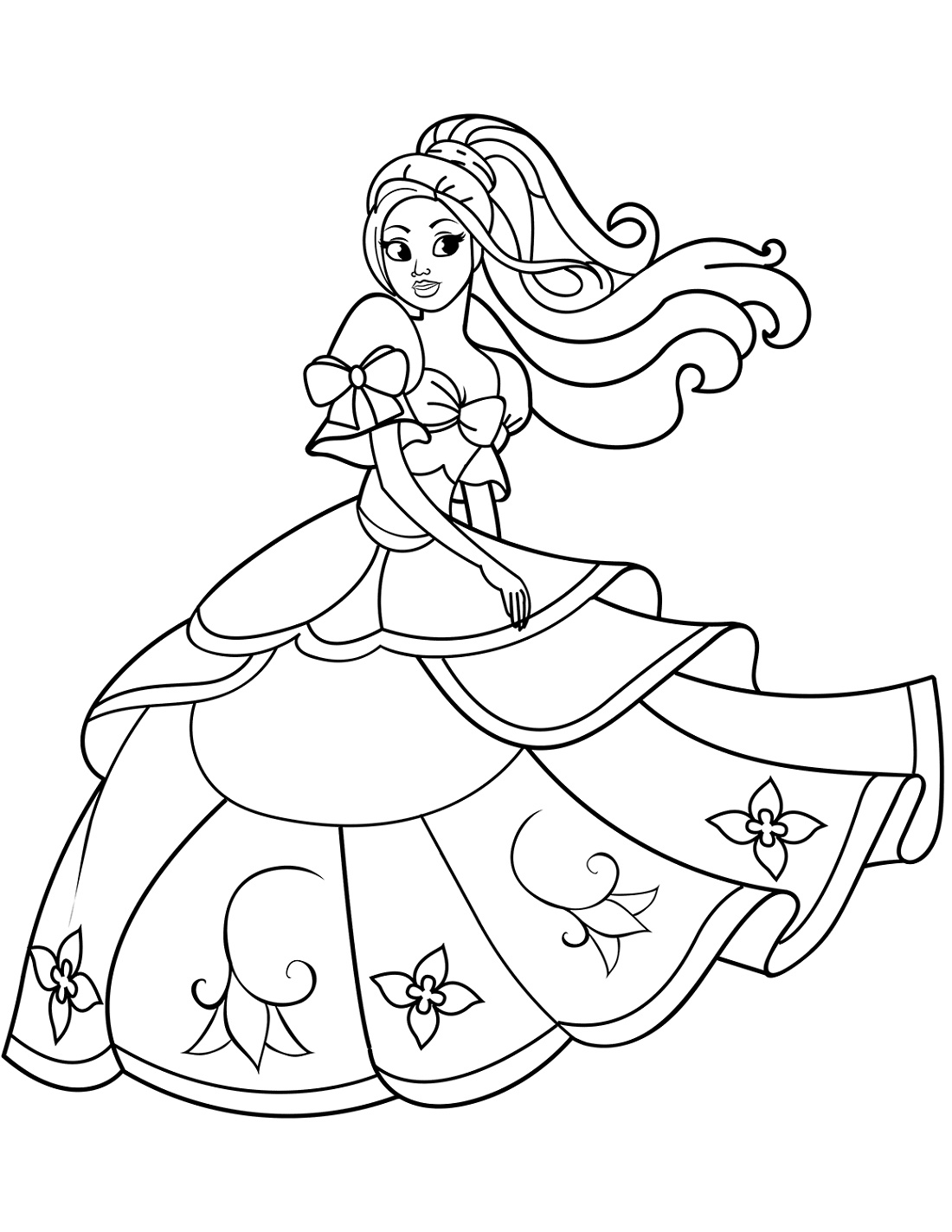 Princess Coloring Dancing