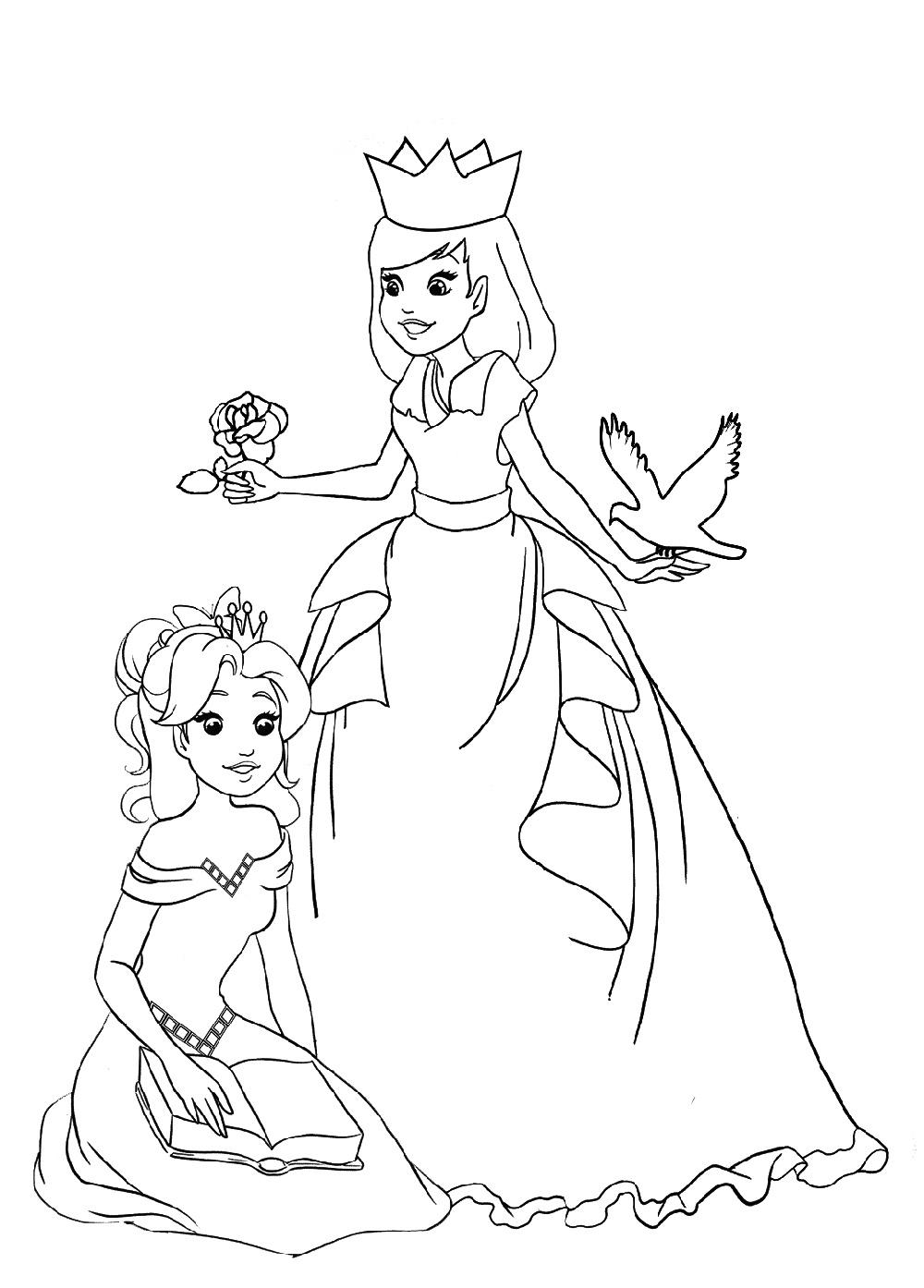 Princess Coloring Printable